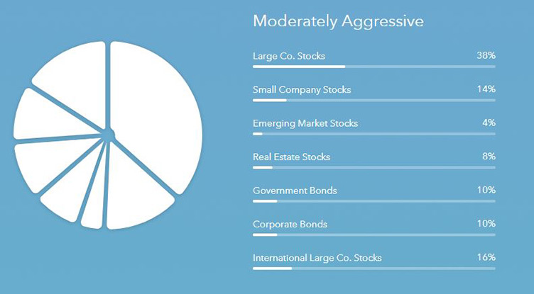 Acorns Moderately Aggressive Portfolio