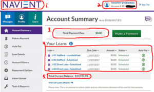Student Loan Anatomy Account Information