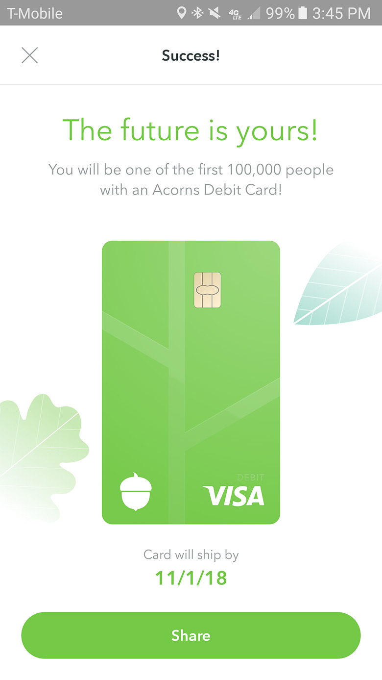 Acorns-Spend-Confirmation-Screen