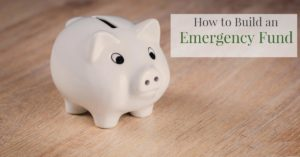 How to Build an Emergency Fund White Piggy Bank