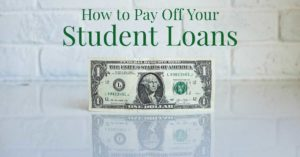 How to Pay Off Your Student Loans Dollar Bill