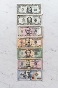 American Money Dollar Bills