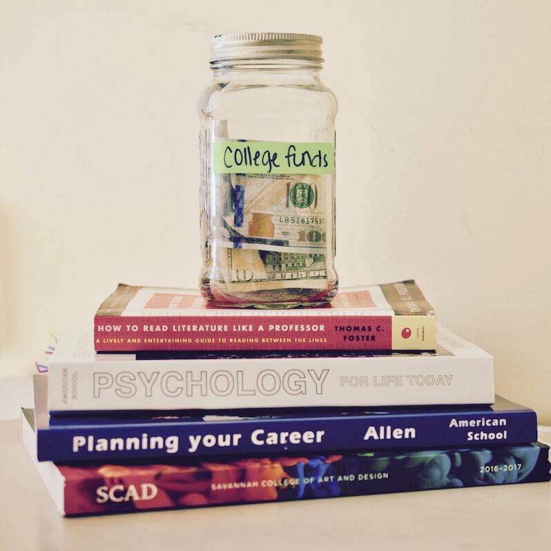 College Funds Savings Jar