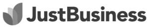 Just Business Logo Fundera B&W
